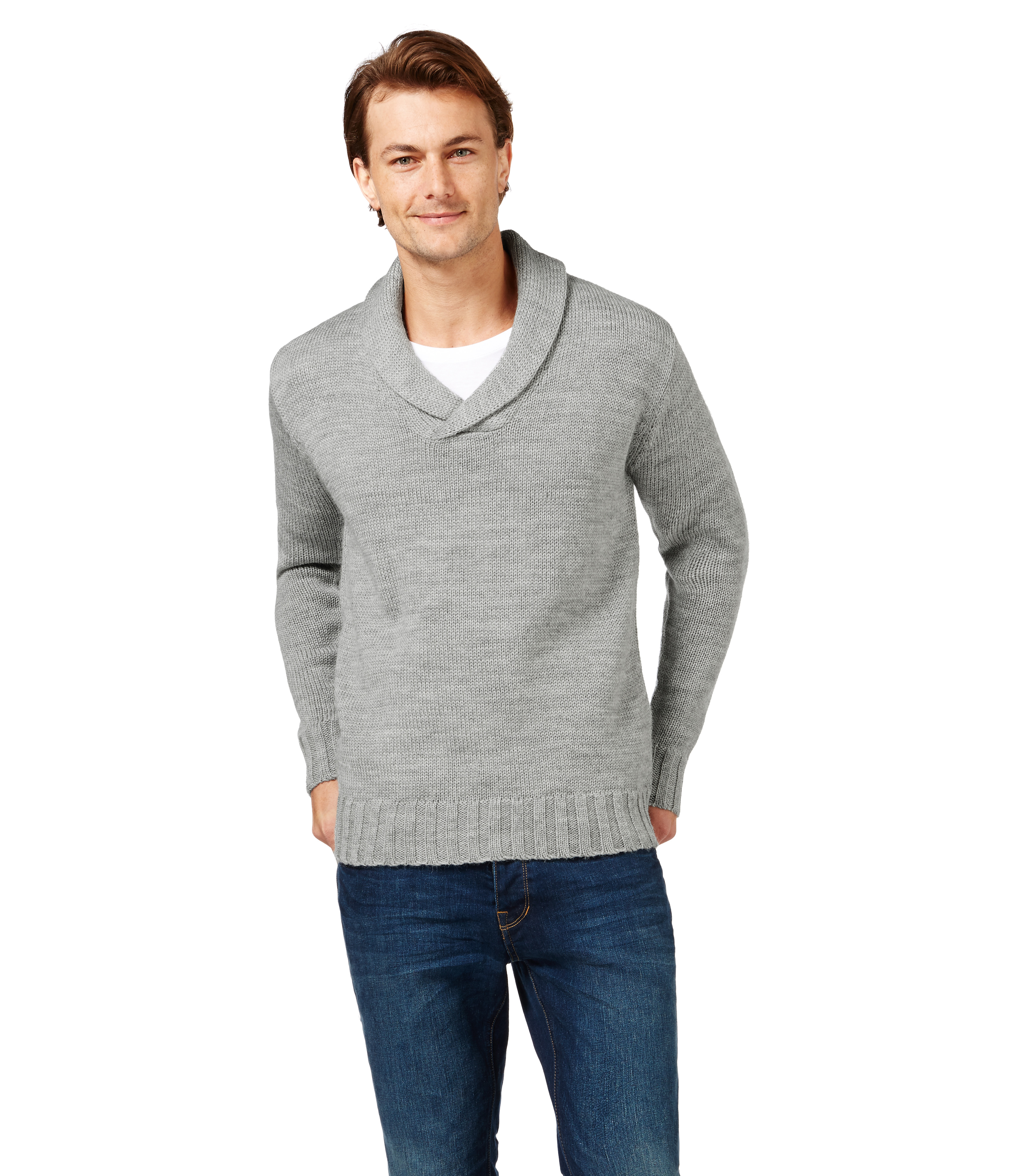 New Mens Chaps Shawl Collar Sweater Heavyweight White Heather $80 NWT Size Small See more like this. JoS. A. Bank Mens Size XL Shawl Collar Cardigan Sweater % Lambs Wool. Pre-Owned.