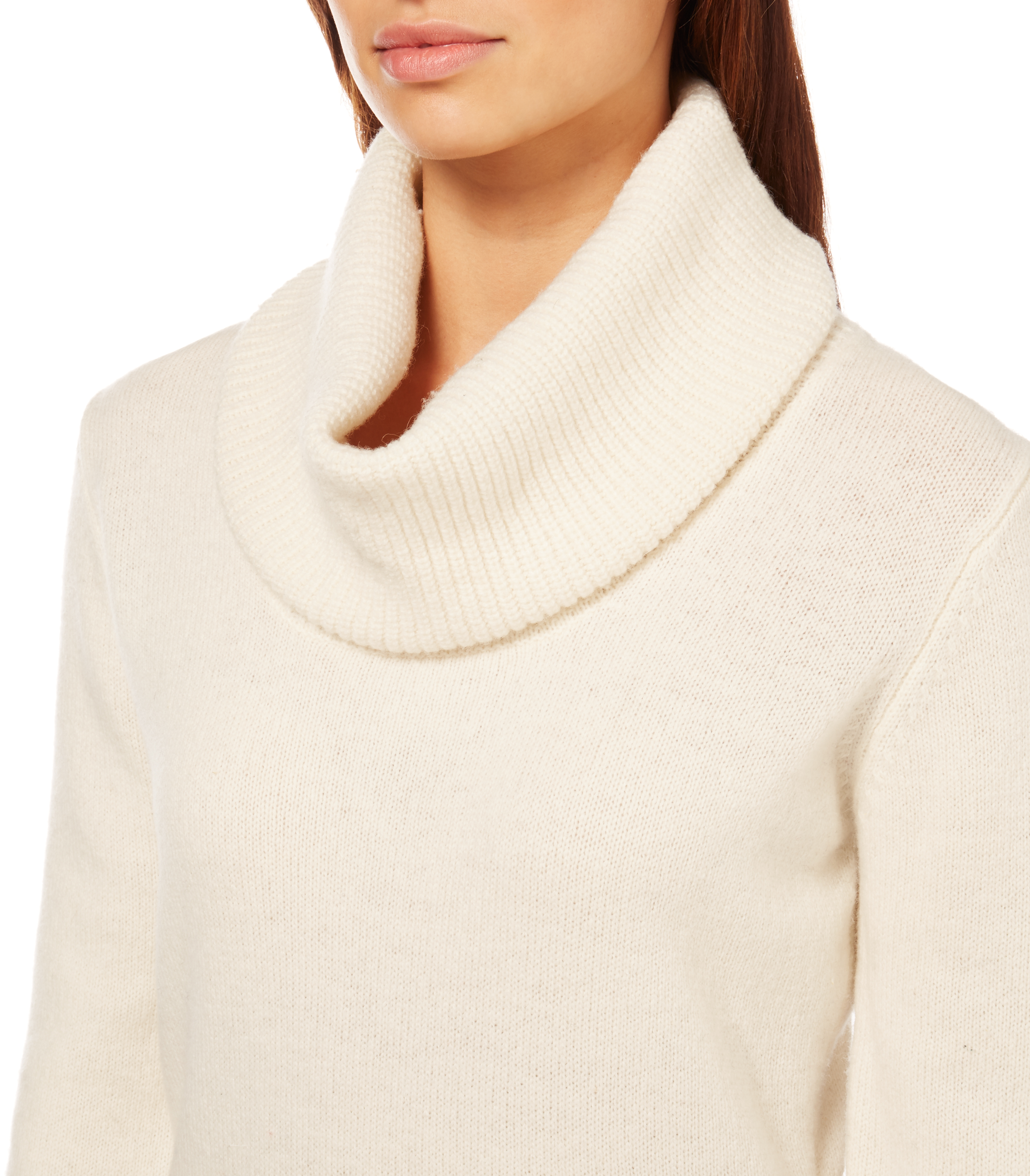 WoolOvers Womens Ladies Lambswool Chunky Cowl Neck Jumper Sweater Knitted eBay