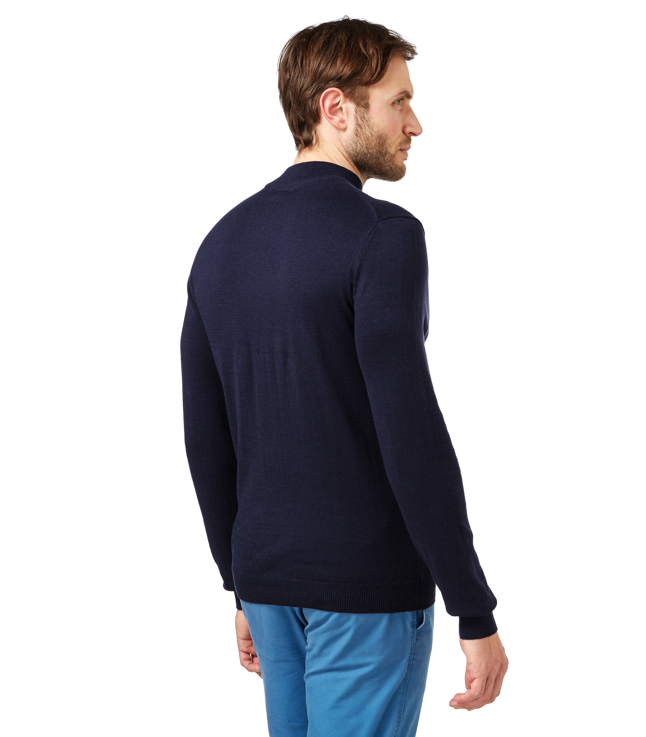 WoolOvers Mens Silk Cotton Turtle Neck Long Sleeve Winter ...