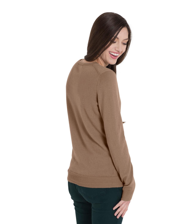 woolovers damen strickjacke kaschmir rundhals cardigan langarm pullover pulli ebay. Black Bedroom Furniture Sets. Home Design Ideas