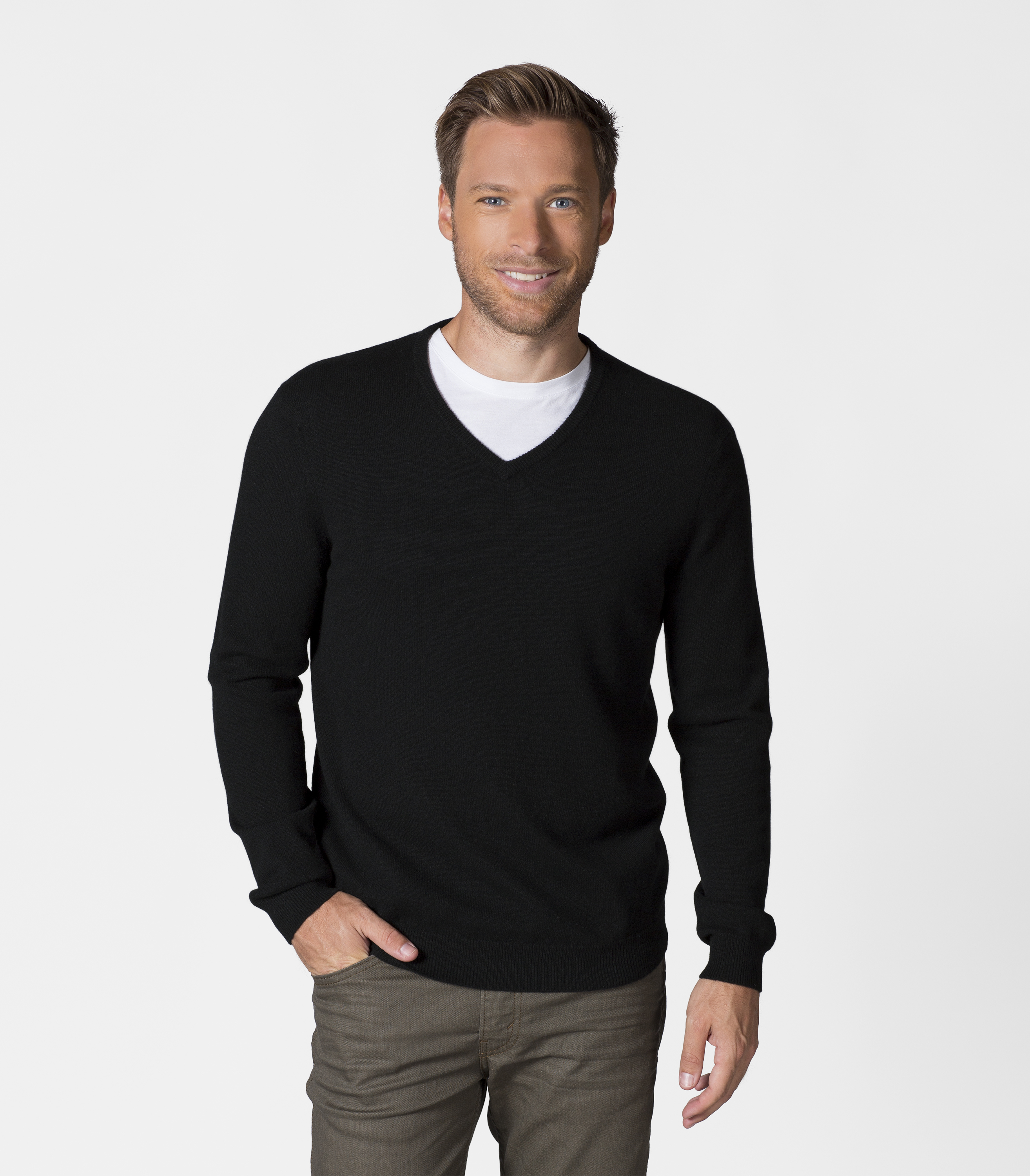 woolovers mens pure cashmere v neck casual jumper sweater pullover knitwear. Black Bedroom Furniture Sets. Home Design Ideas