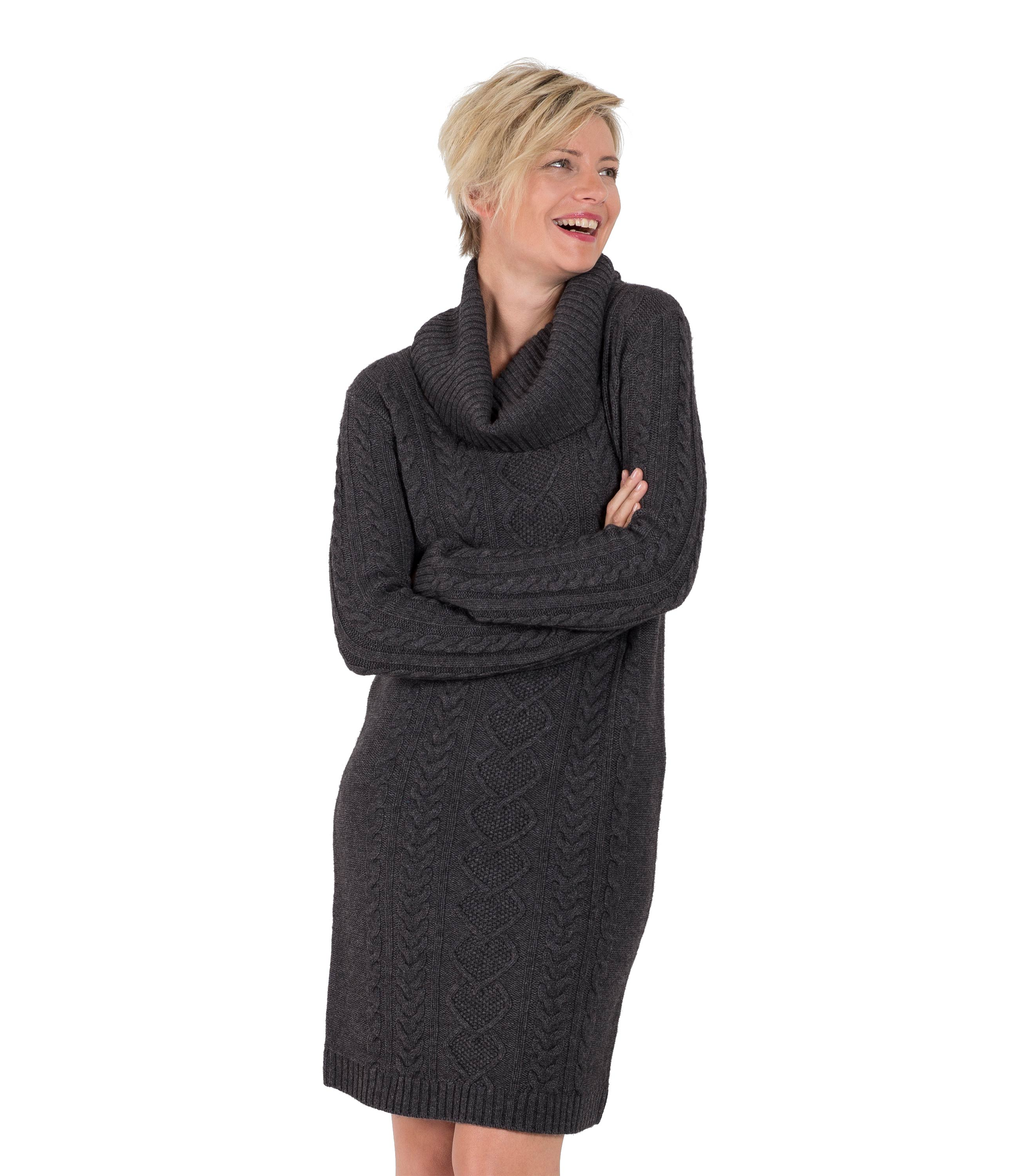 WoolOvers Womens Ladies Cashmere And Merino Cowl Neck Sweater ...