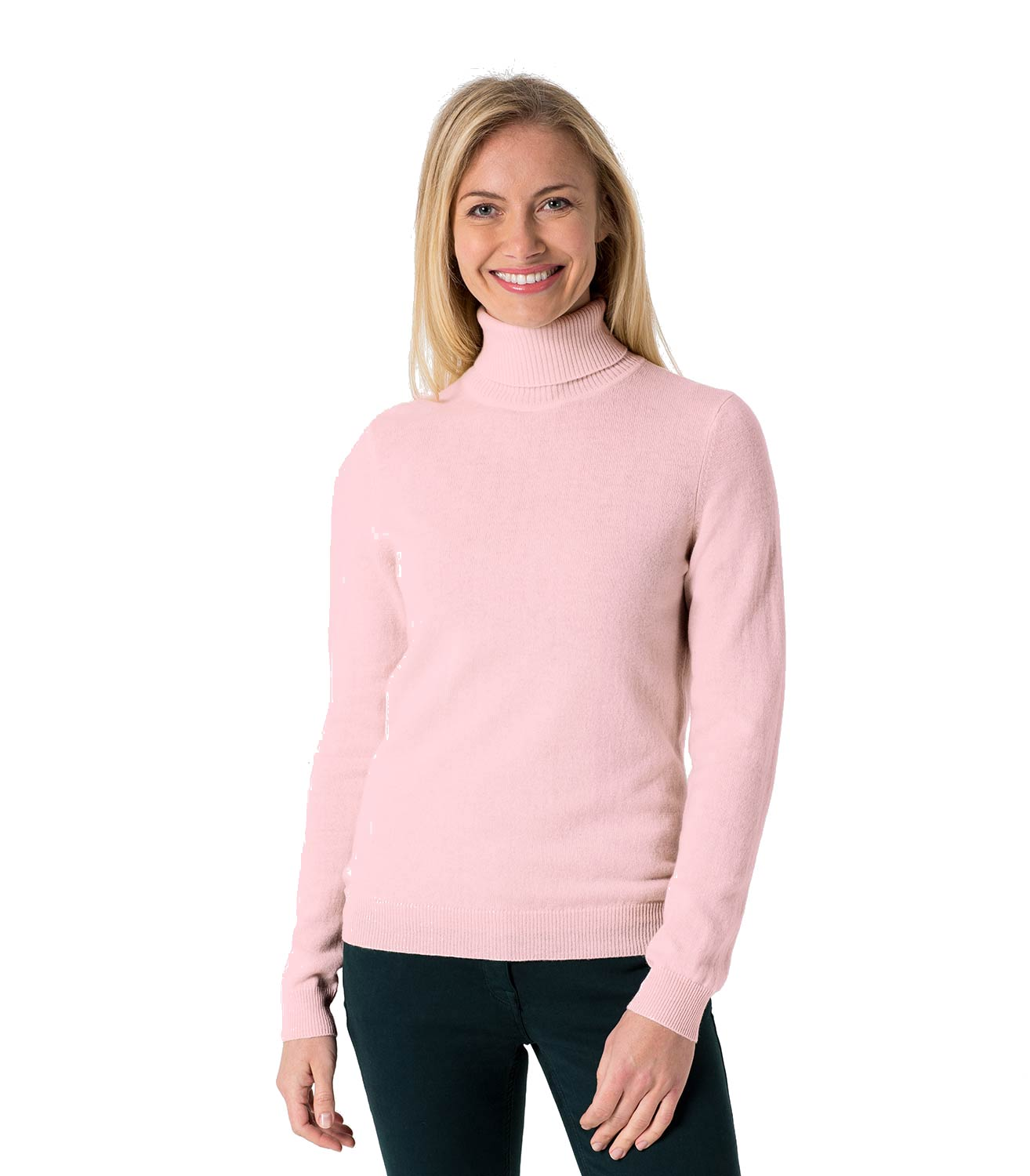 For ladies who like to bring an air of sophistication to a room, our women's roll neck tops are ideal. Perfect for the office or a night on the town, our women's roll neck tops collection ranges from classic black high neck tops to smart turtleneck tops and funnel neck styles.