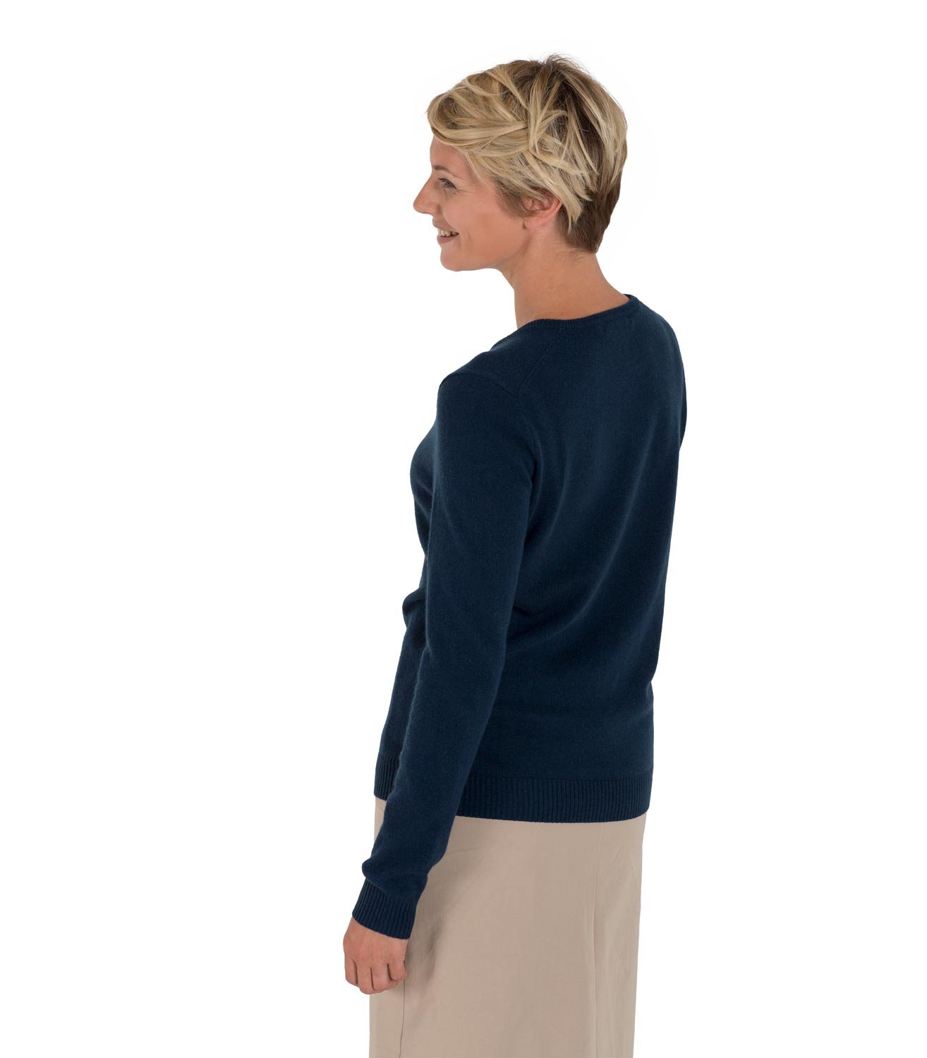 WoolOvers Womens Ladies New Cashmere Crew Neck Jumper Sweater ...