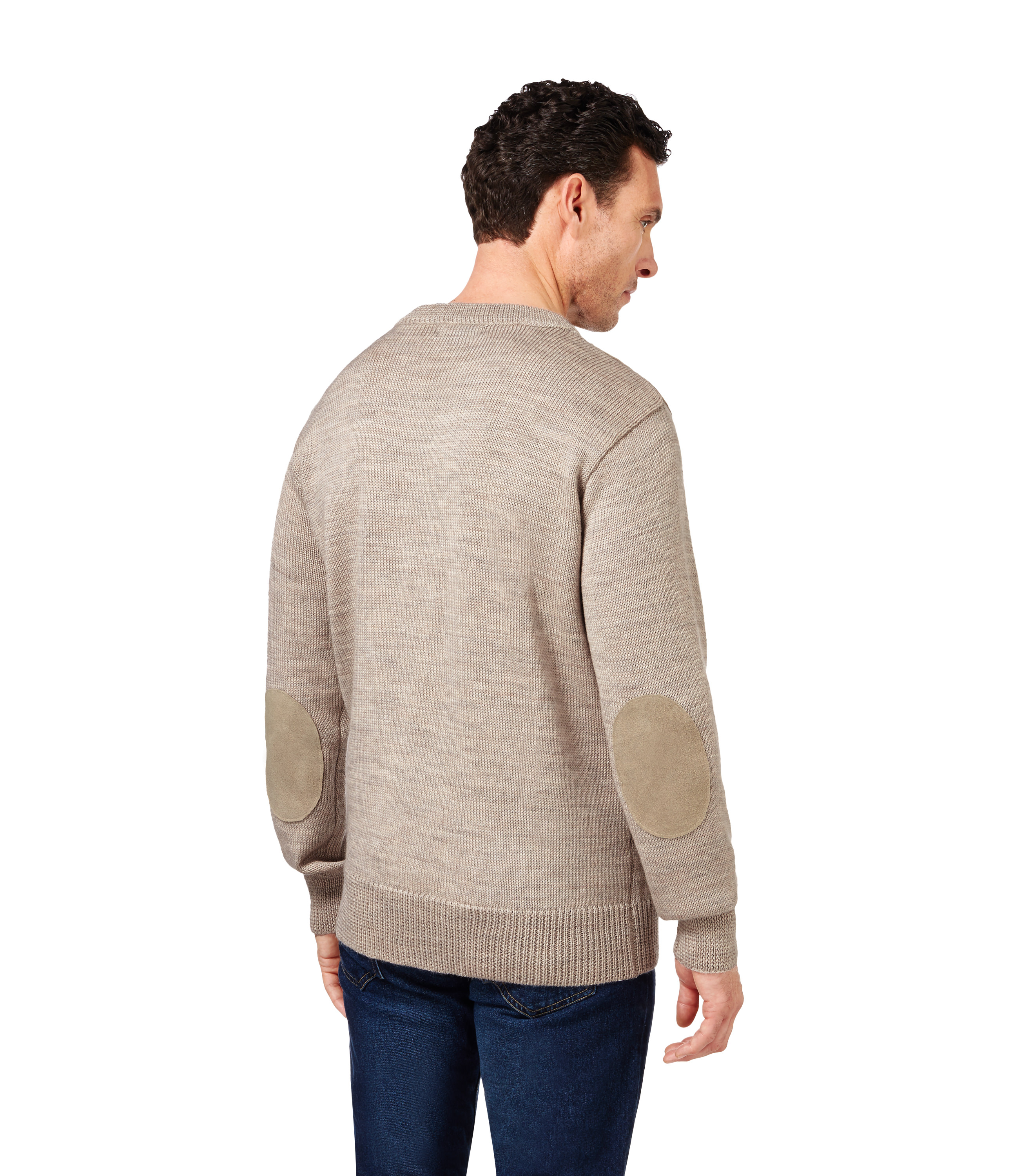 woolovers mens pure wool huntsman crew neck long sleeve warm pullover sweater ebay. Black Bedroom Furniture Sets. Home Design Ideas