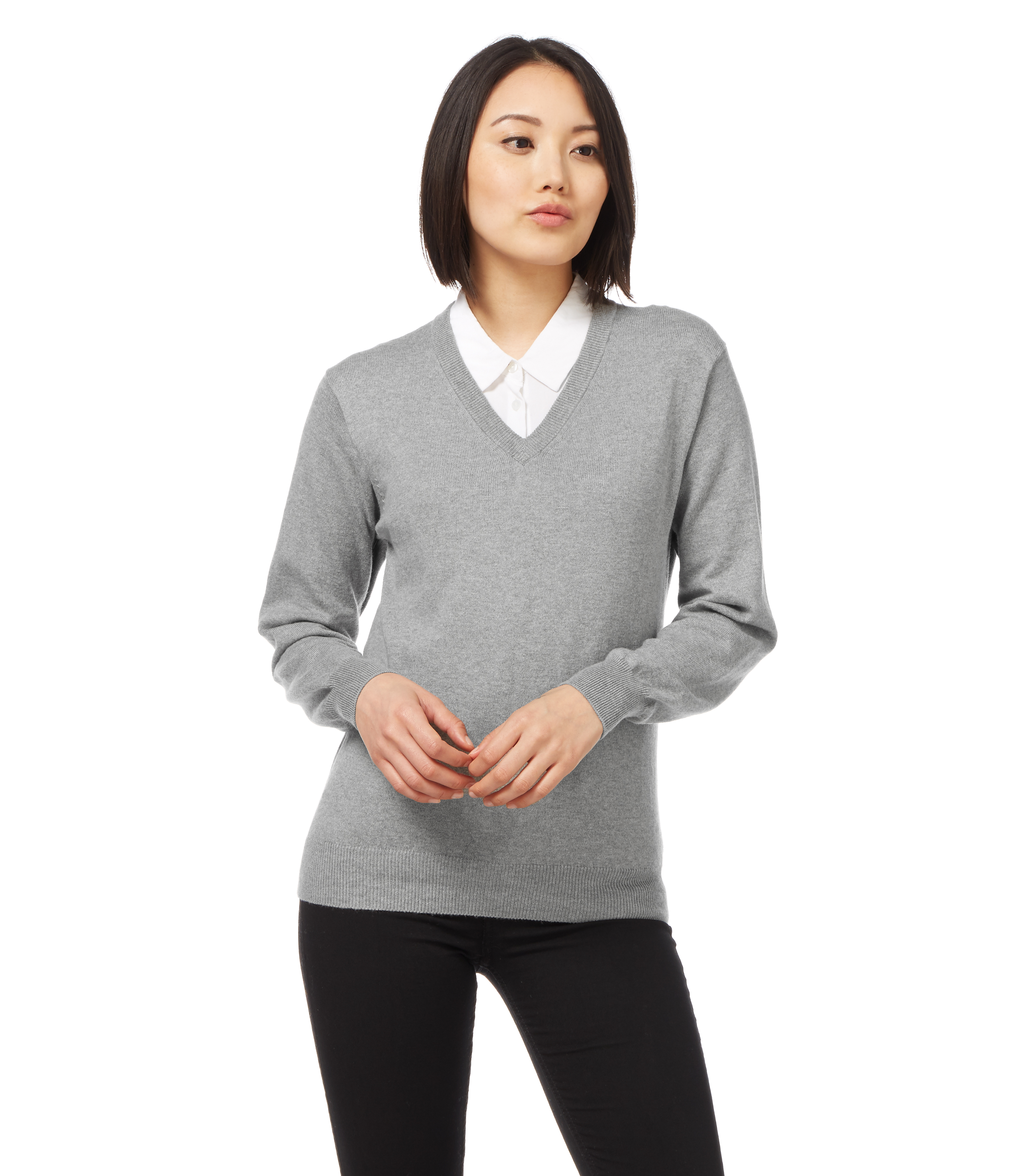 woolovers womens cashmere cotton v neck long sleeve sweater pullover winter top ebay. Black Bedroom Furniture Sets. Home Design Ideas