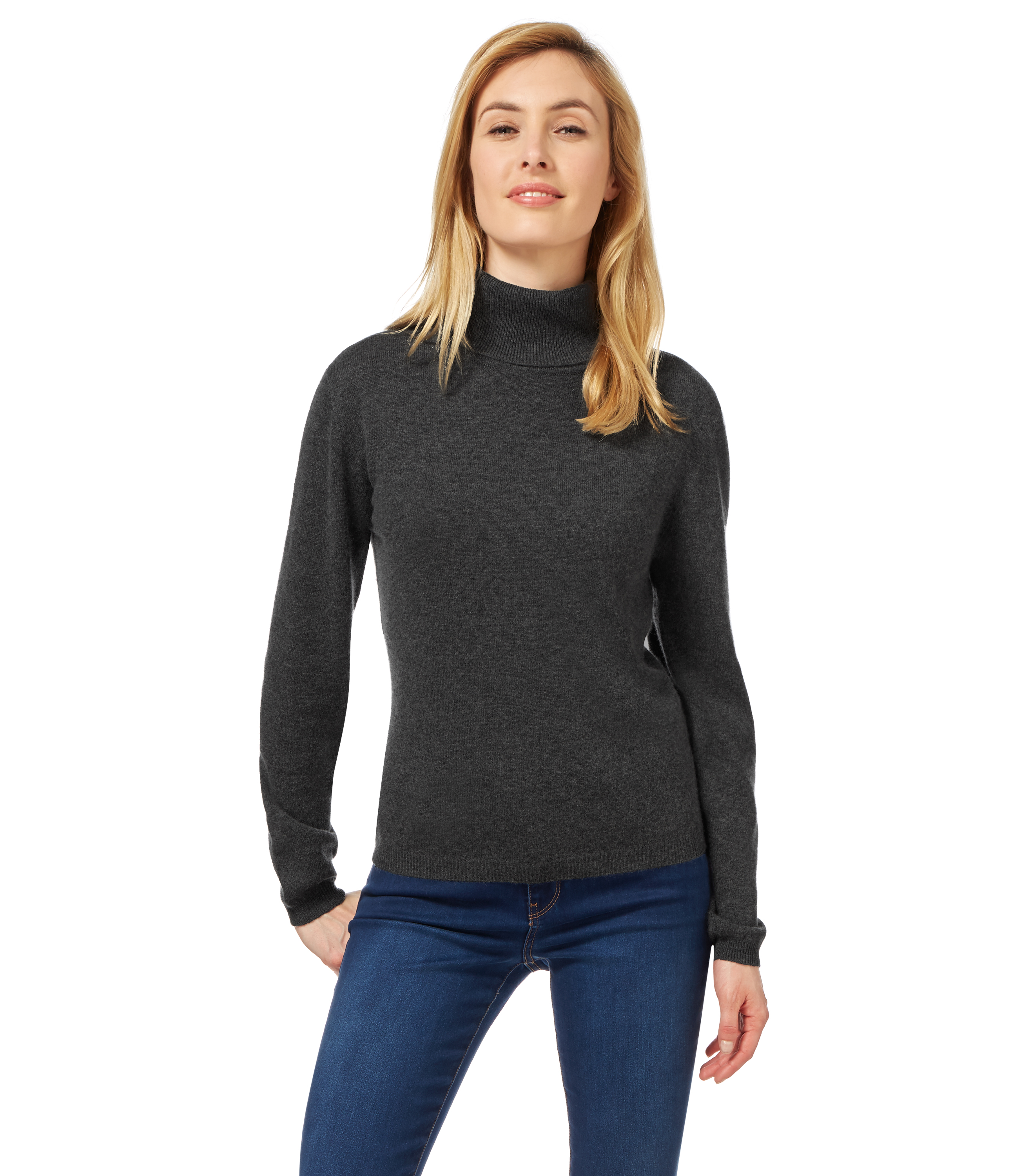 Stay warm on chilly days with our women's roll-neck knitwear. Nestle into turtlenecks, turn-back styles or softly draped cowls in neutral hues to .