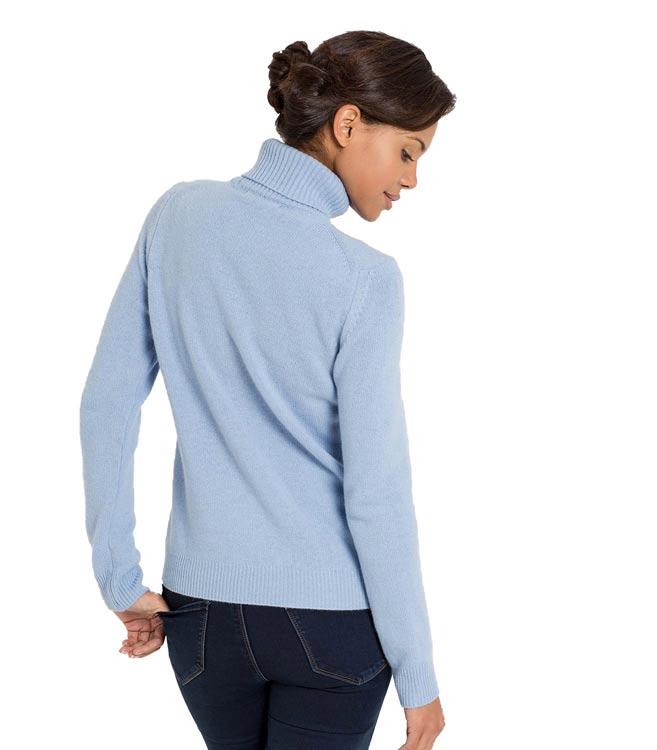 2e06e5c933eafa WoolOvers Womens Ladies Lambswool Polo Jumper Sweater Christmas ...
