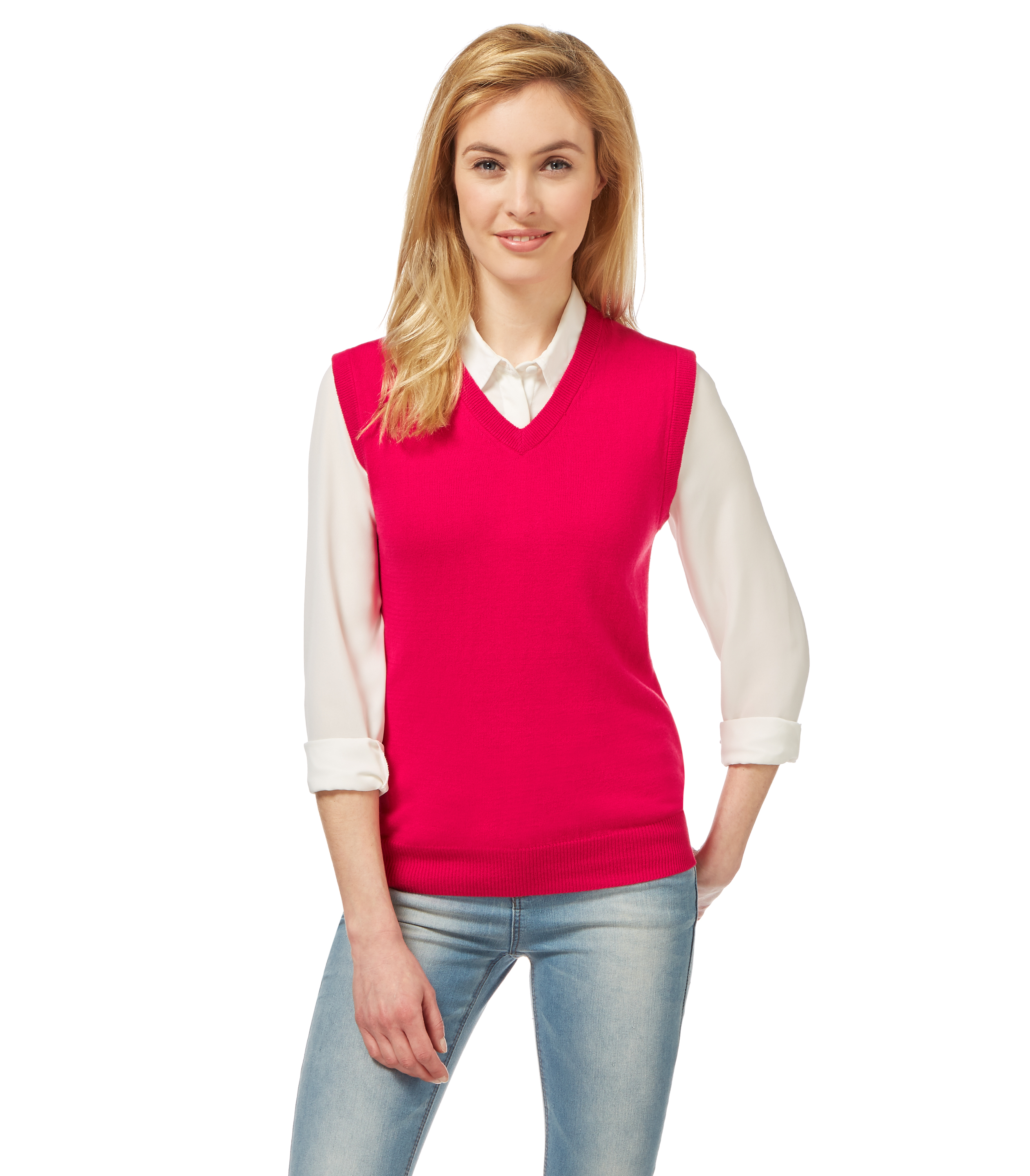 WoolOvers Womens Ladies Cashmere And Cotton Slipover ...