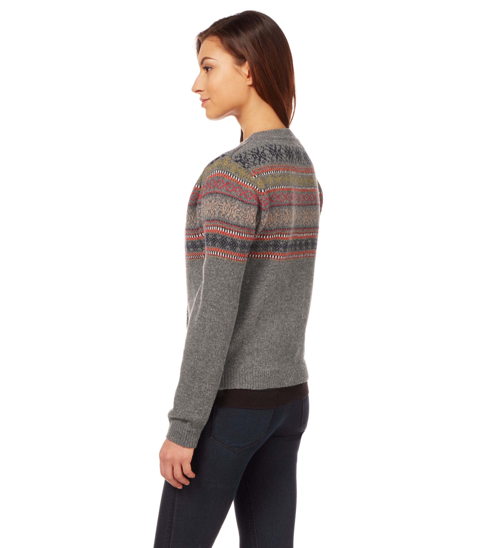 woolovers cardigan top haut chaud casual hiver en jacquard femme laine agneau. Black Bedroom Furniture Sets. Home Design Ideas